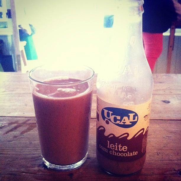 Portuguese chocolate milk
