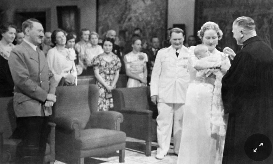 Photo of Goering's daughter Edda being Christened from: https://www.nytimes.com/2019/03/13/obituaries/edda-goering-dies.html