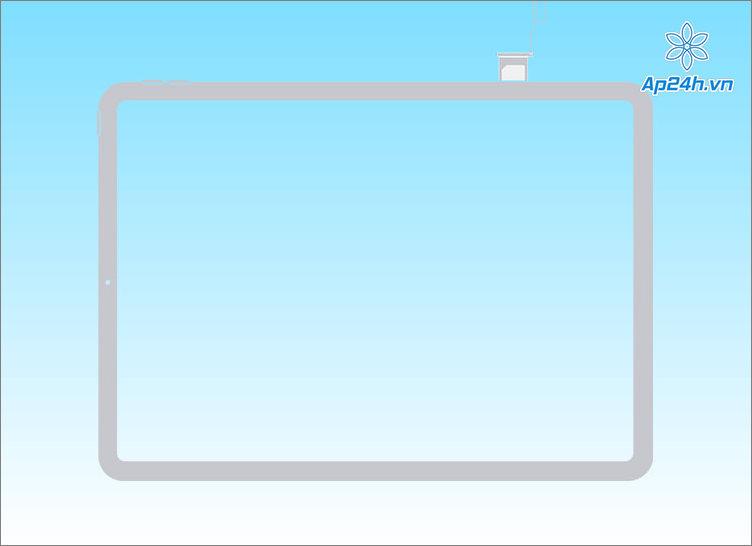 Khay SIM iPad ở vị trí bên phải thân máy