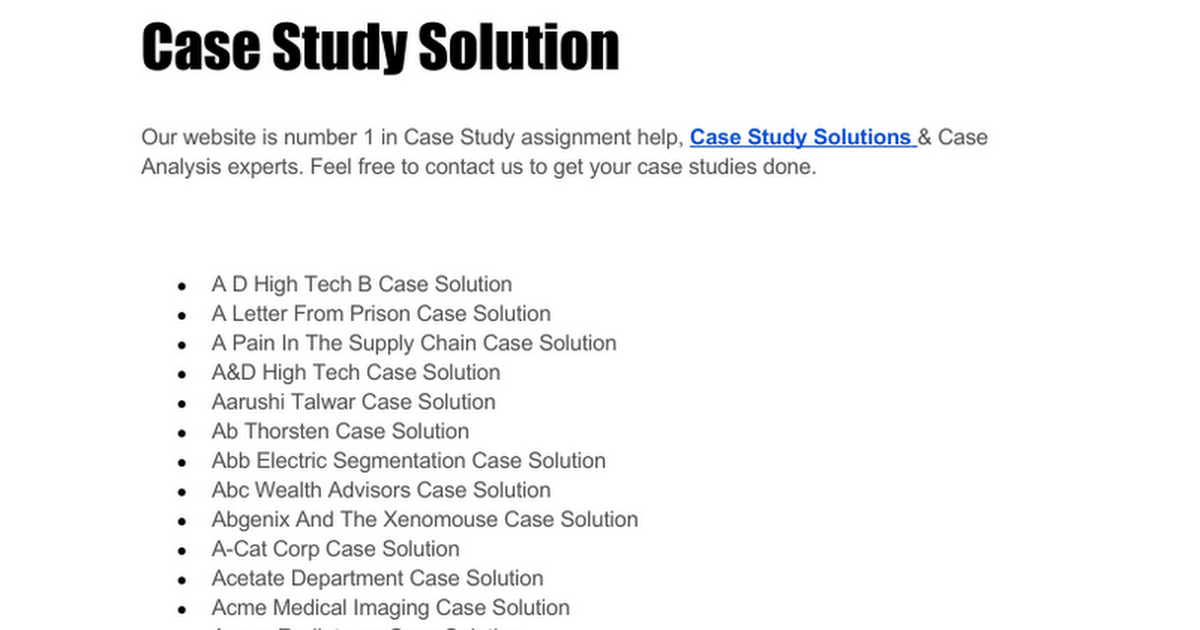 Jetblue Ipo Case Study Solution - Case Solution, Analysis ...
