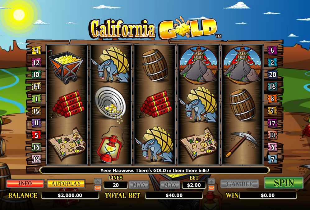 California Gold Slots Machine Review