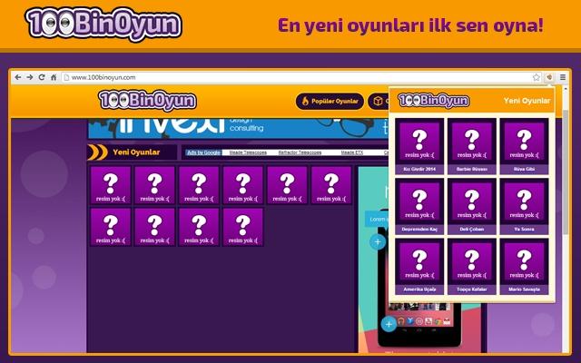 100BinOyun Yeni Oyunlar chrome extension
