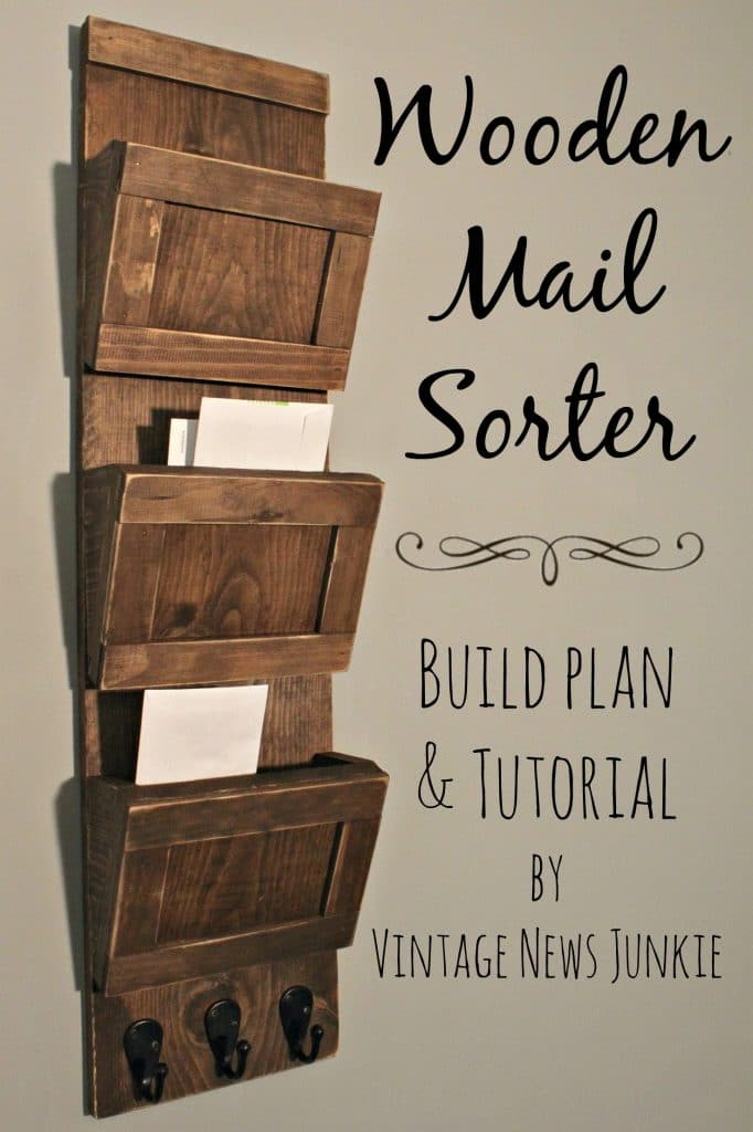 Wood Mail Sorter: These 50 Woodworking Projects That Sell Online will help you make some money.