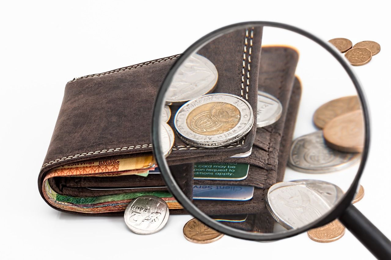 picture of a wallet and coins,