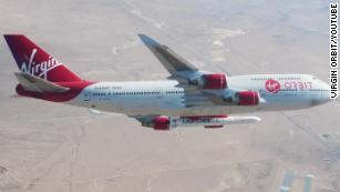 Virgin Orbit 'drop tests' a rocket from a 747 aircraft 35,000 feet in the sky