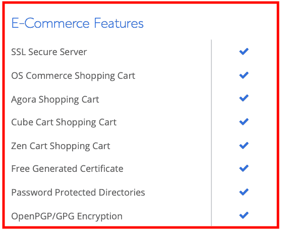 Bluehost: Web Hosting Review E-commerce Features