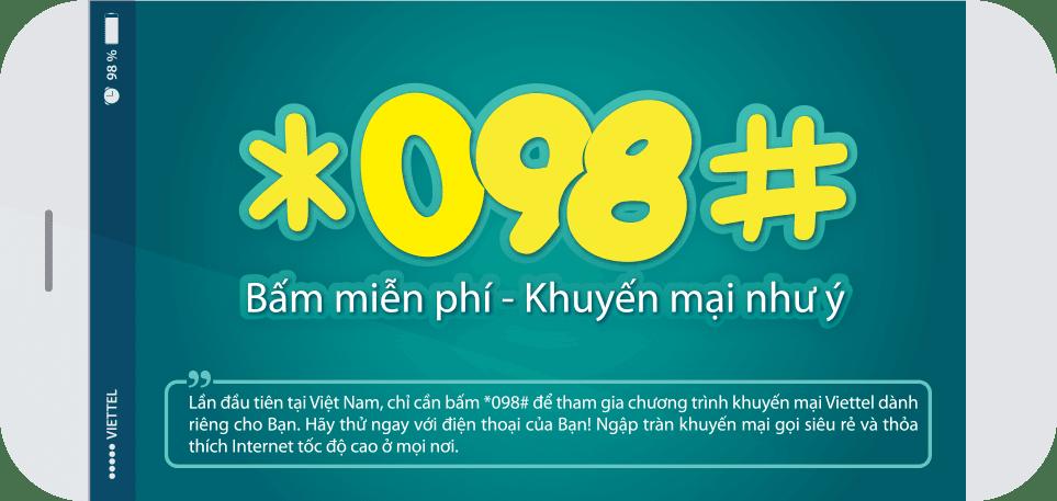 Gọi *098# để kiểm tra gói cước