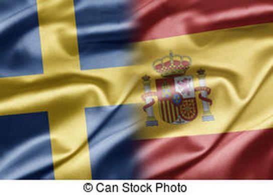 Suecia, españa. Sueco, mapa, político, ondulación ...