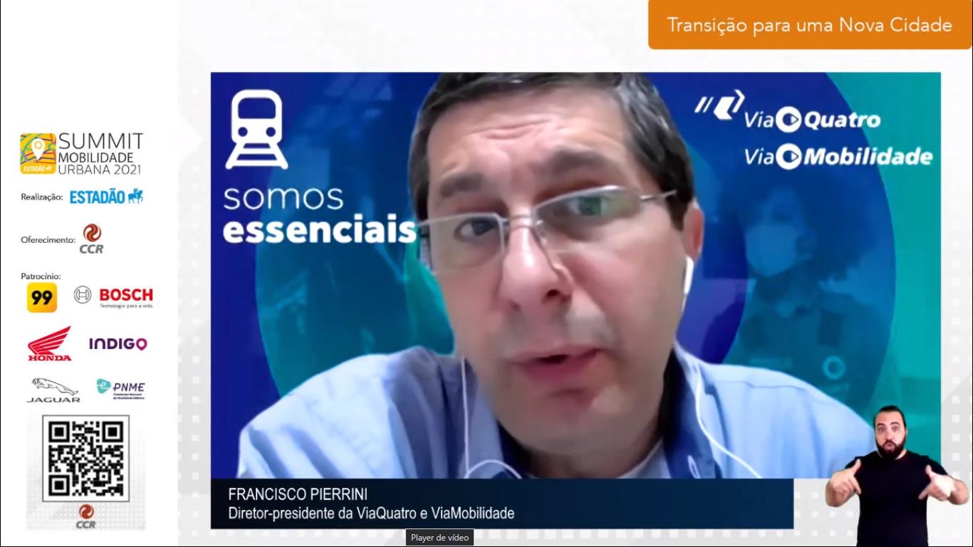 Pierrini destacou a importância do metrô na resolução de questões da mobilidade urbana.