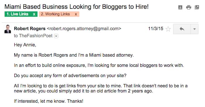 người viết blog quảng cáo