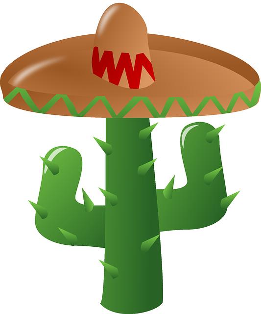 Cacto, Sombrero, Mexicano