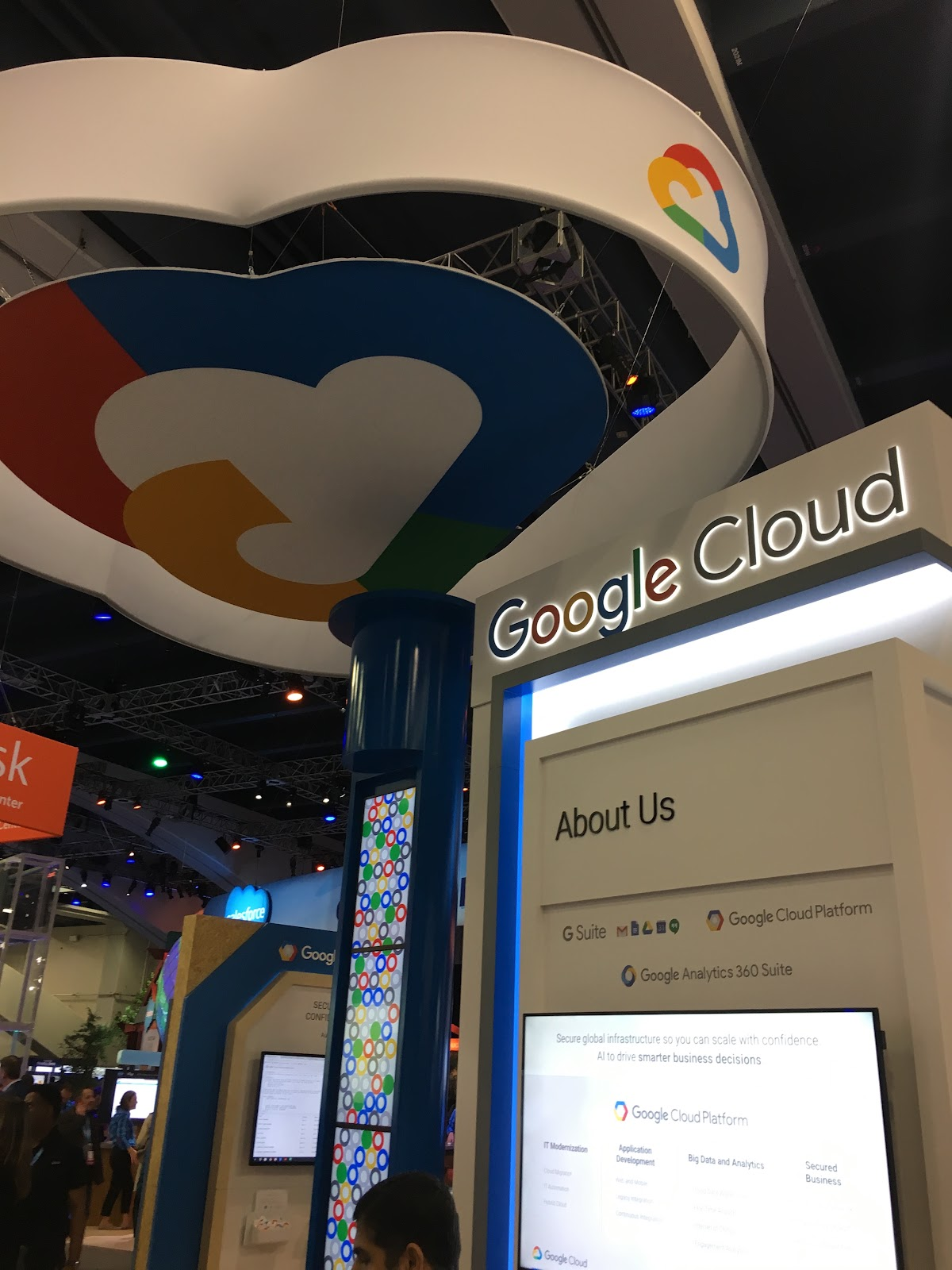 Google Cloud booth at Dreamforce 2017