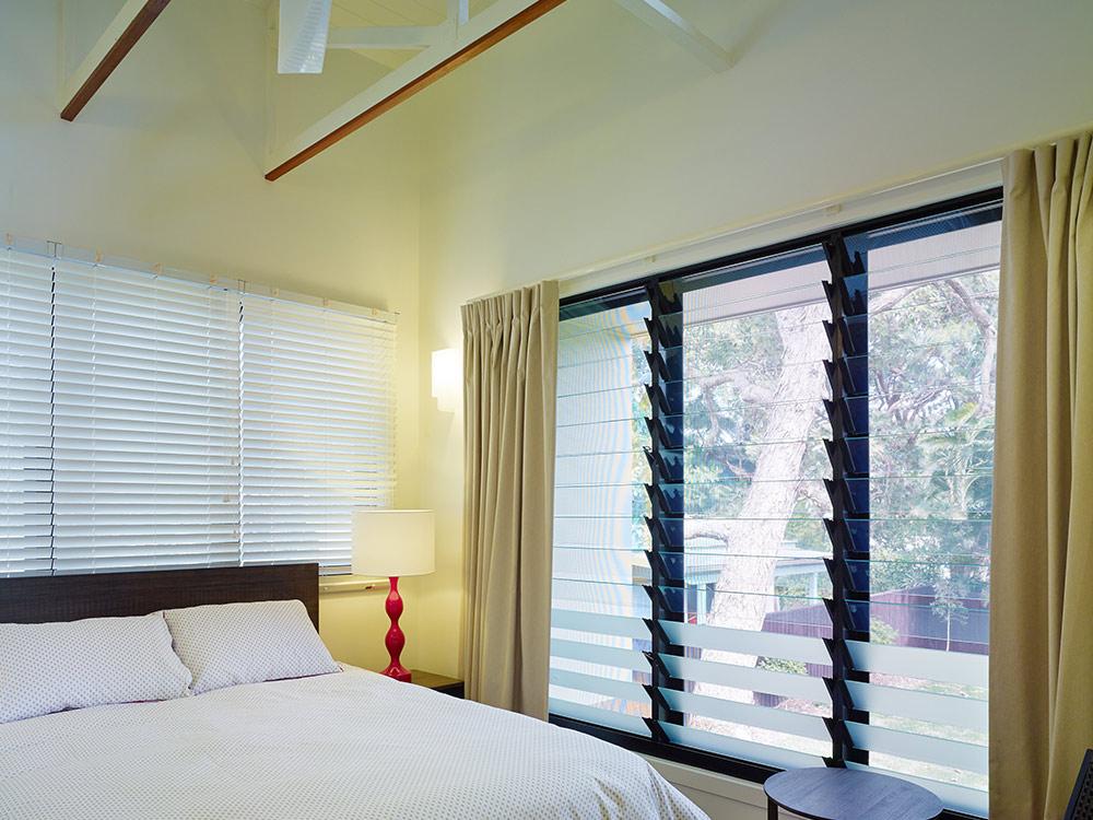 Louvre Bedroom Window Treatment Ideas