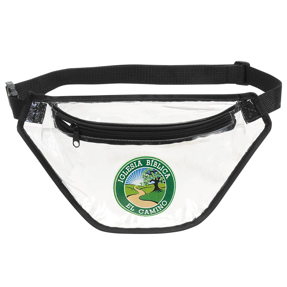 branded clear Fanny Pack