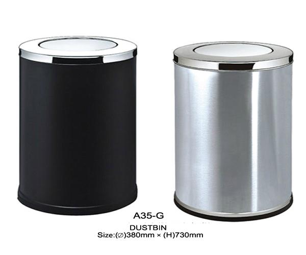 Lựa chọn thùng rác inox nắp lật tròn đa năng