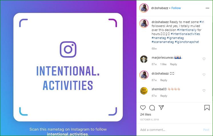 Distinctive Instagram Nametags