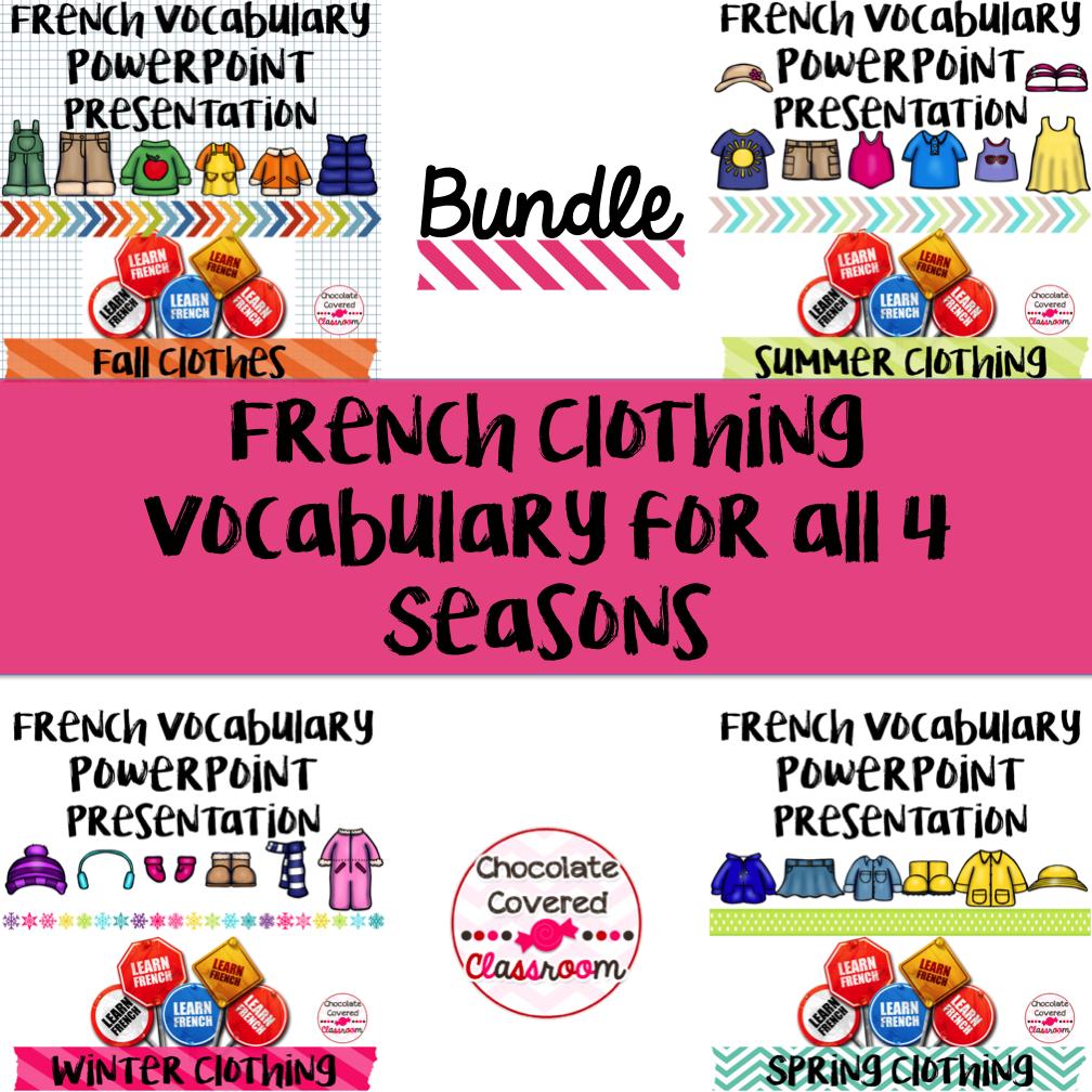 Preparing for a Substitute Teacher in the Second Language Classroom - FREE French Clothing Vocabulary PowerPoint Presentation with sound