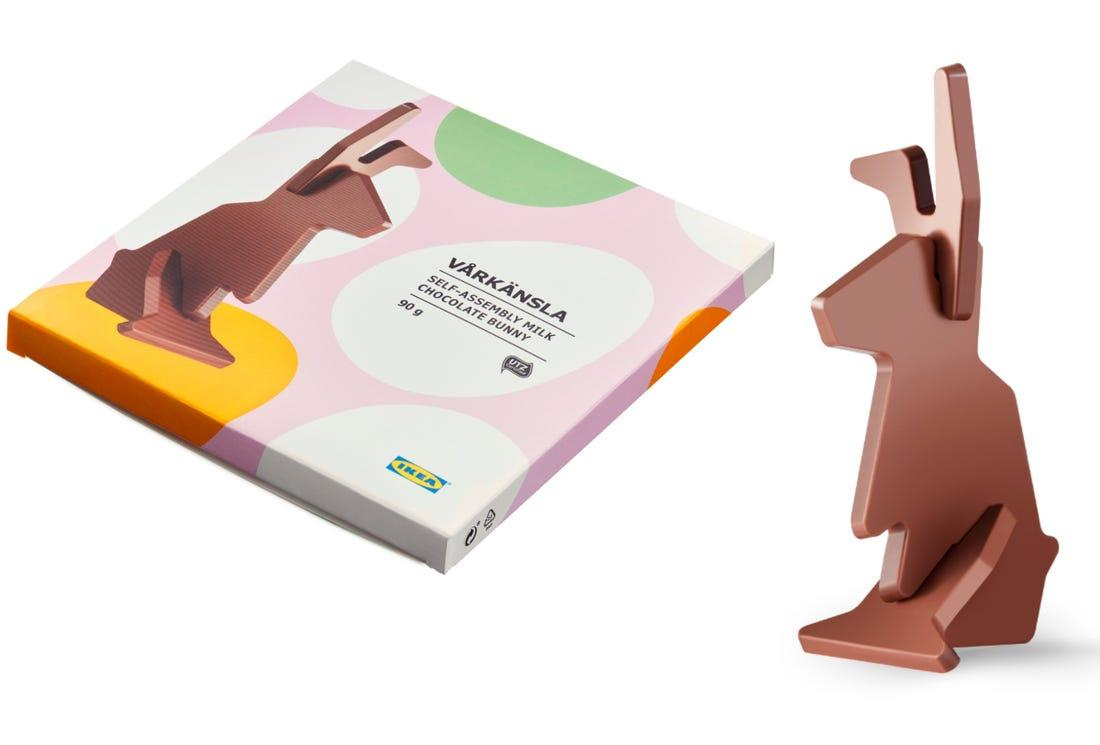 Image result for IKEA Flat Pack Chocolate Easter Bunny