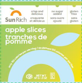 Sun Rich - apple slices - 57 gram