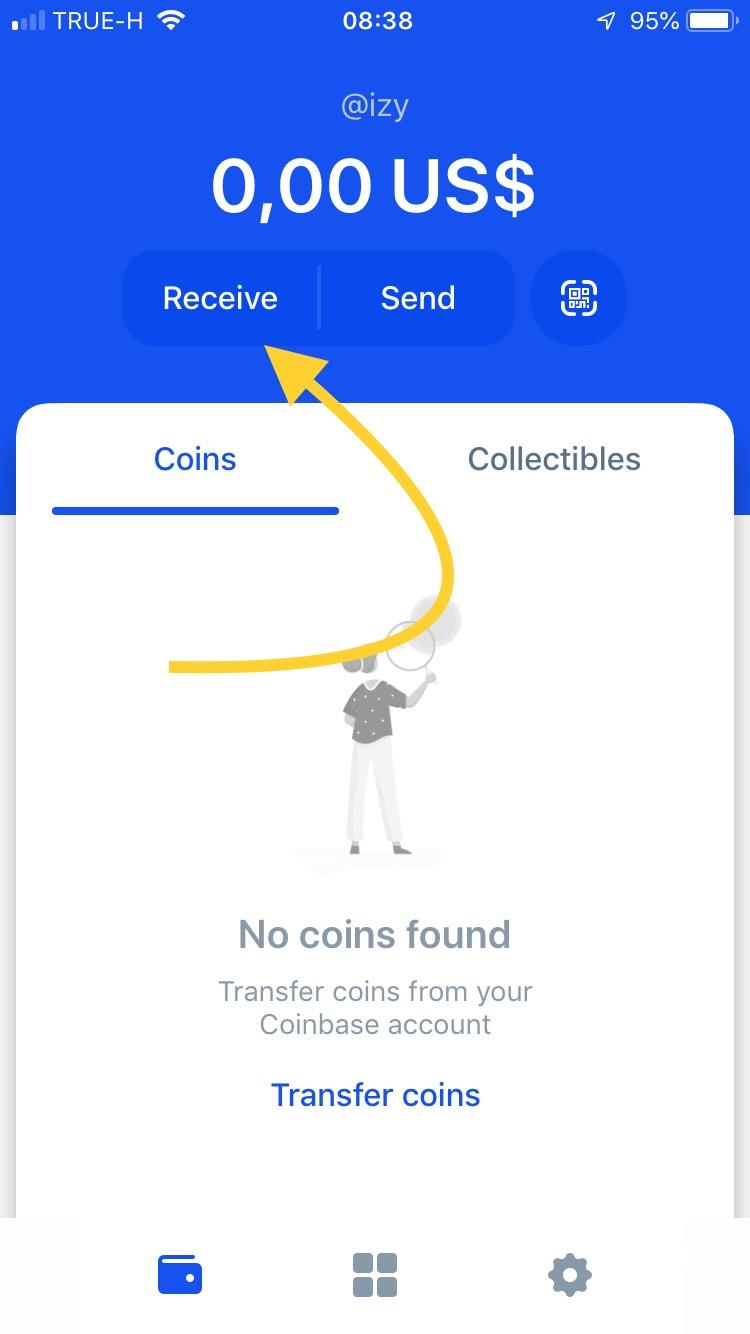 Utworzony portfel bitcoina