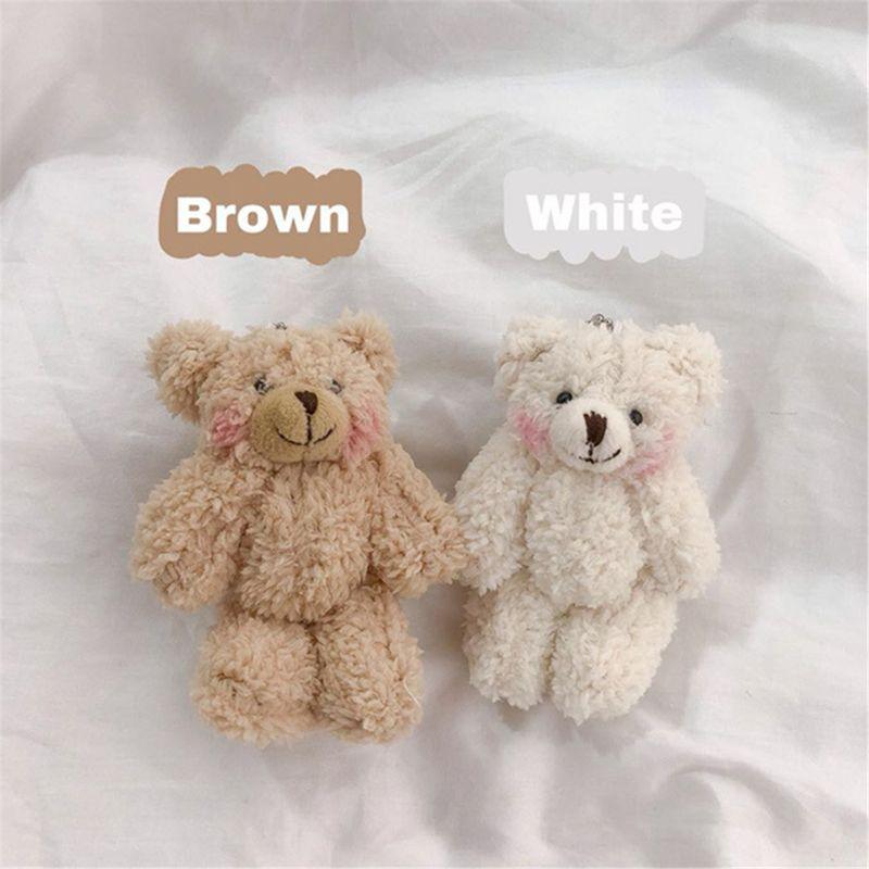 7pcs Cute Mini Bear Stuffed Animal Doll Plush Soft Toy Girl Birthday Gifts