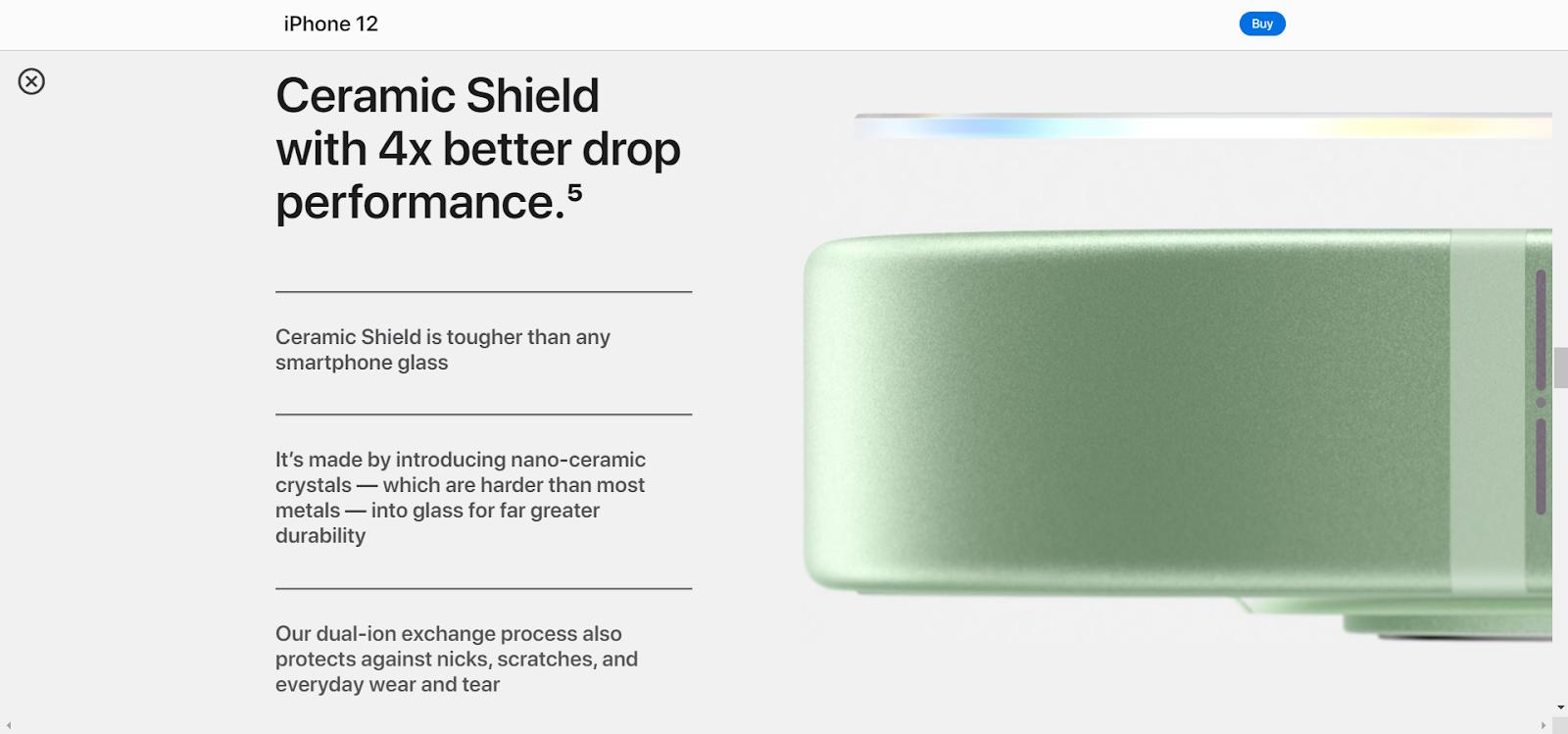 Product description layout for Apple devices