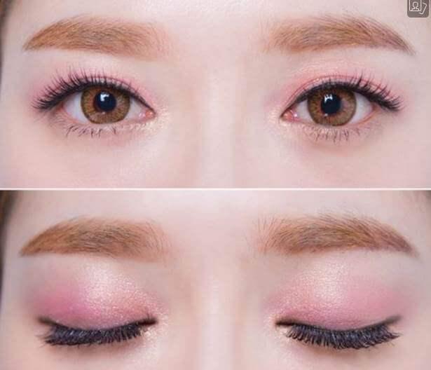 Bầu mắt màu hồng tím