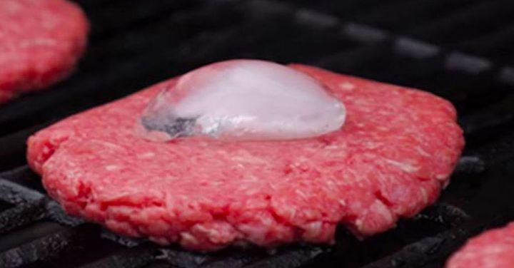 Using Ice to Keep Your Patties Juicy