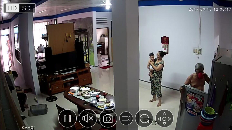 Sau khi lắp đặt, hình ảnh thu được từ camera được hiển thị qua phần mềm