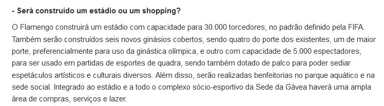 Flamengo não tem estádio