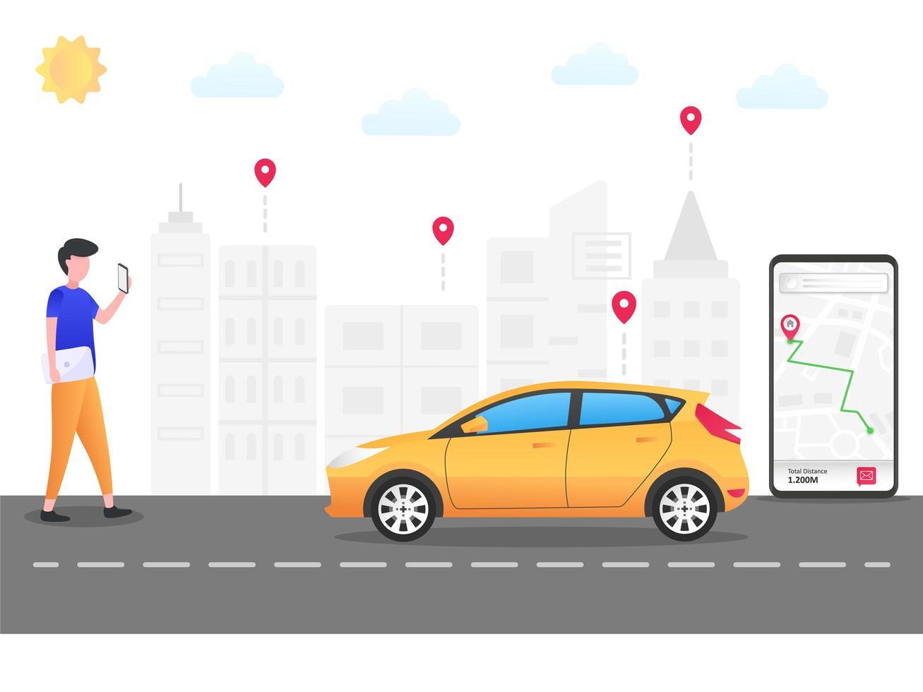 Замовлення таксі через мобільний додаток - Зображення 1