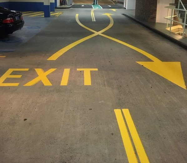 Exit way of an underground parking lot