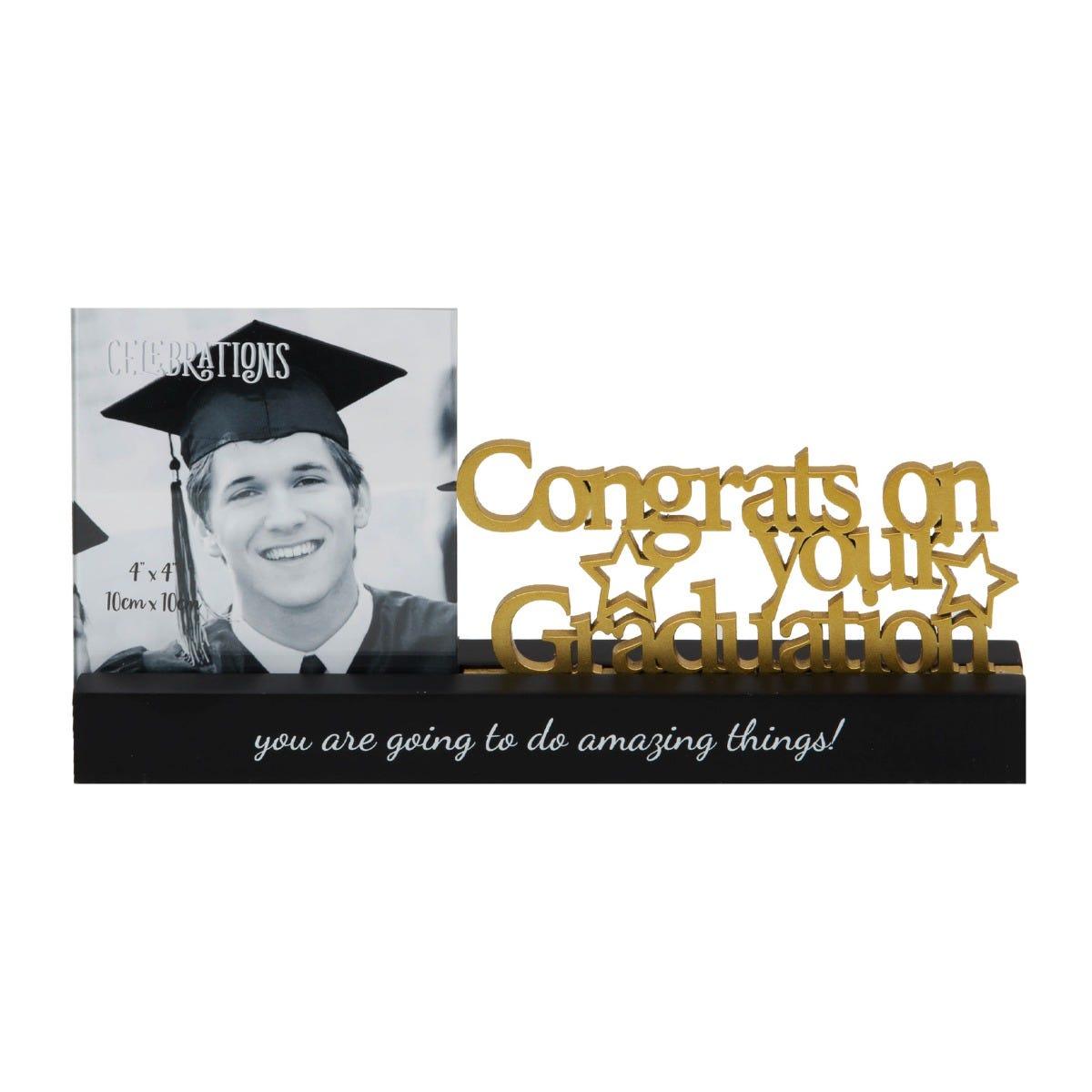 Clintons' graduation photo frame