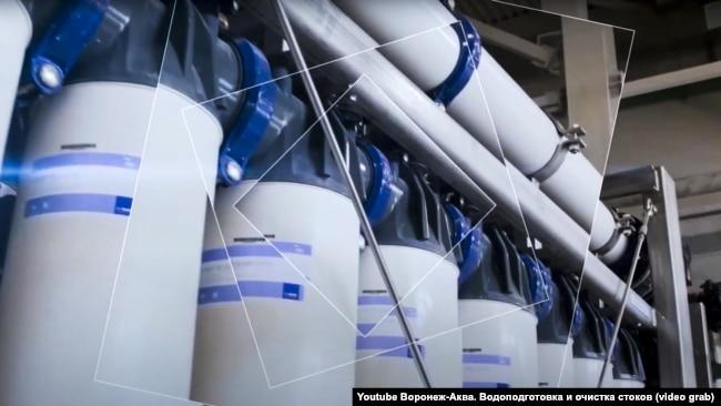 На відеоролику російської компанії «Воронеж-Аква» видно, які фільтри встановлені на Таврійській і Балаклавській ТЕС, що розташовані у Криму