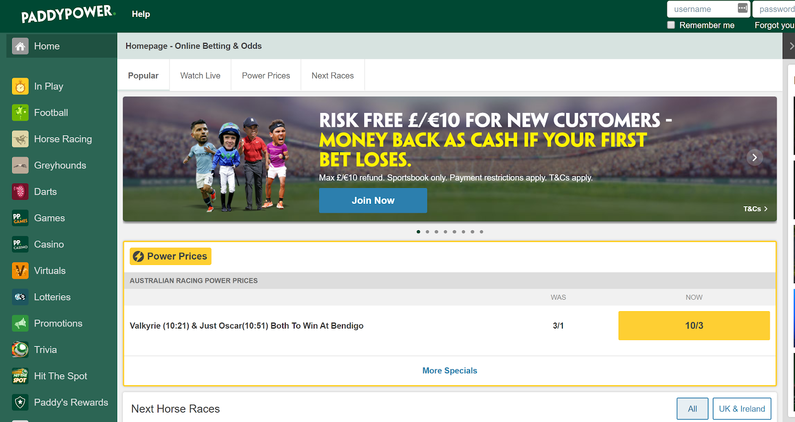 Paddy Power has one of the best betting apps