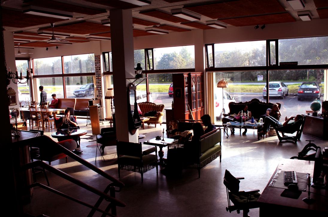 Interior at Bus Hostel