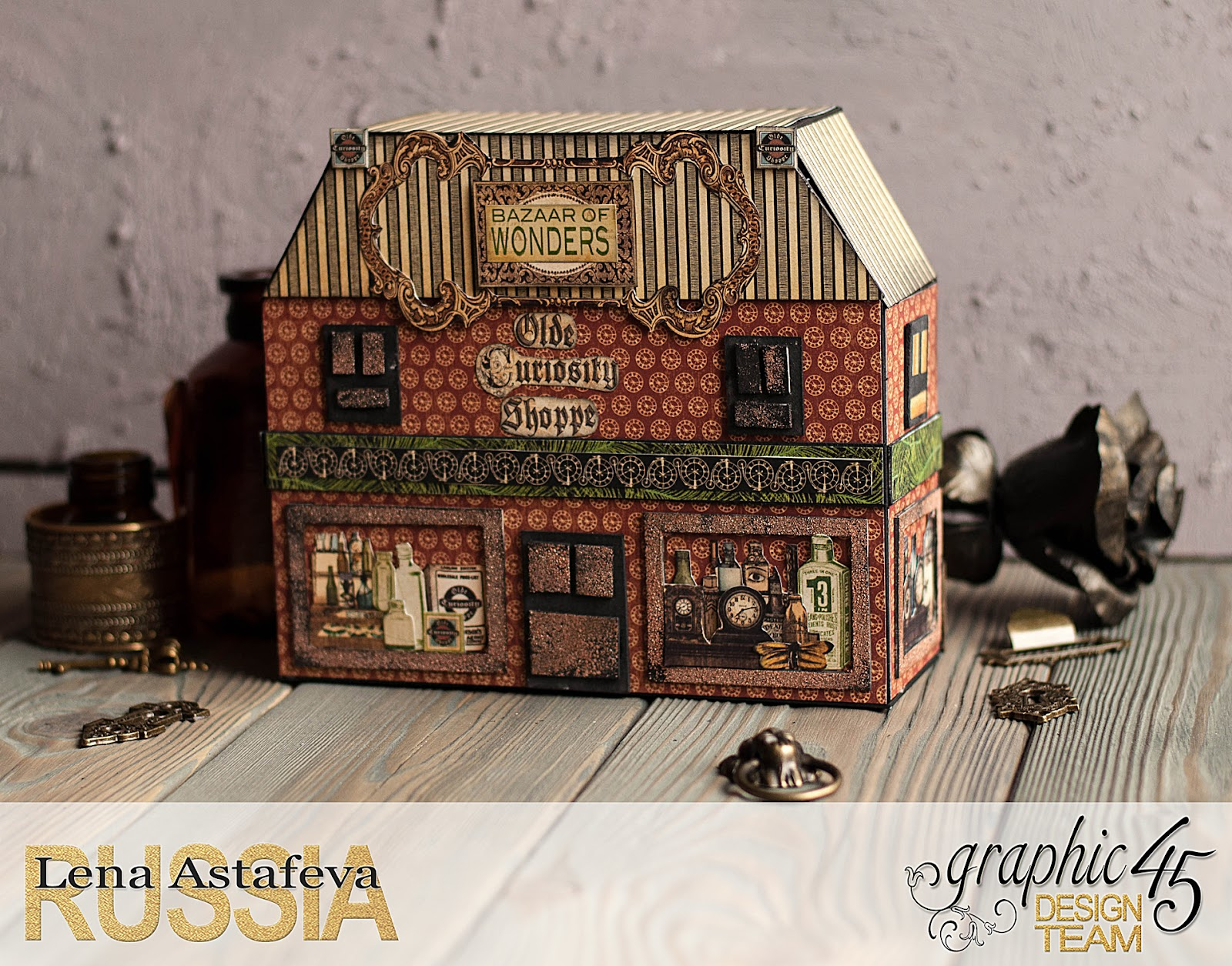Olde Curiosity Shoppe-Album and Shoppe-tutorial by Lena Astafeva-products by Graphic 45-5.jpg