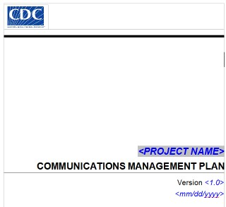 cdc communication plan template
