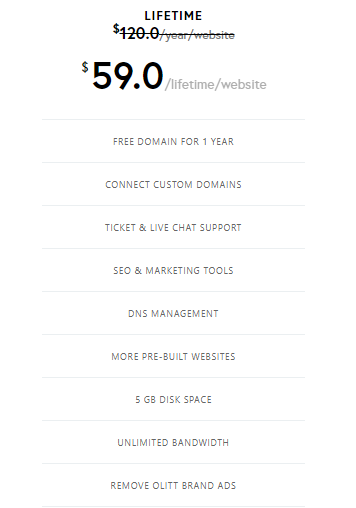 landing page lifetime access offer