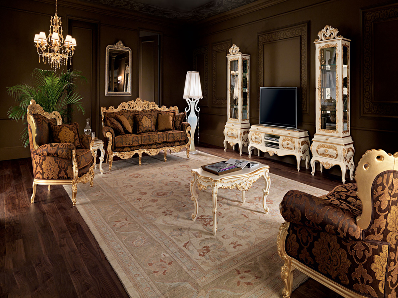 Phòng khách tân cổ điển mang vẻ đẹp rất cuốn hút