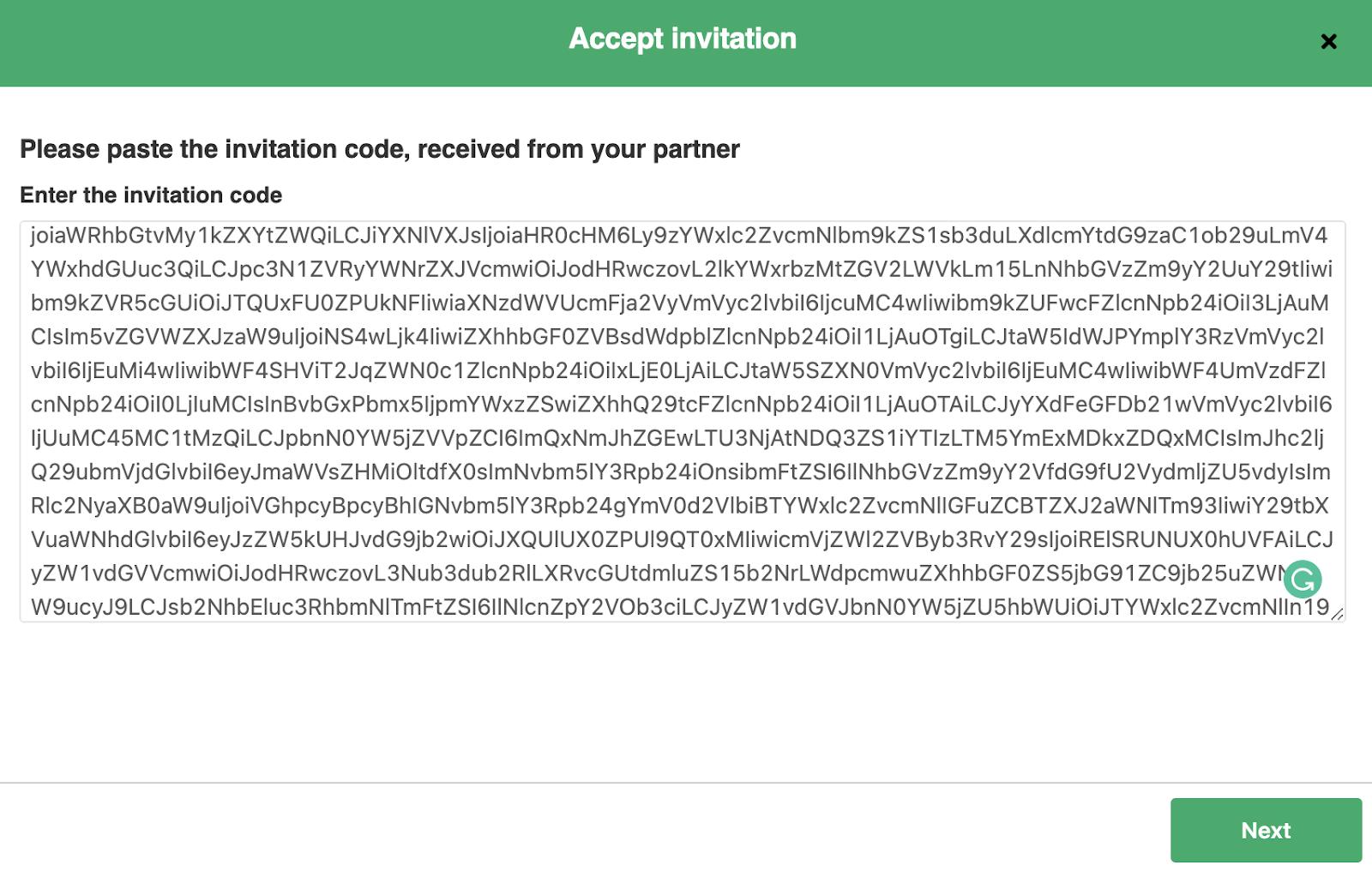 pase exalate invitation code