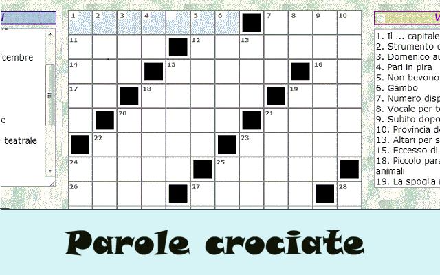Cruciverba parole crociate enigmistica chrome web store for Cruciverba per anziani da stampare