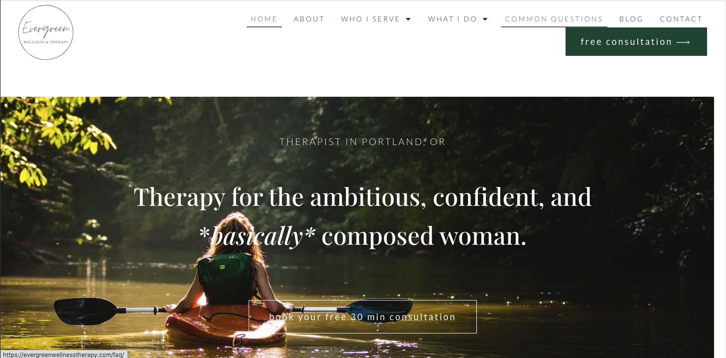 Evergreen Wellness Website
