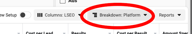 Using Breakdown By Platform To See Instagram Stats In Facebook Ads