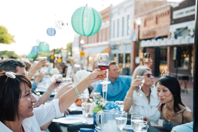 Locals in Plano enjoy Night Out on 15th Street.