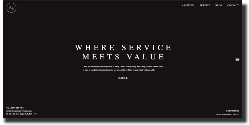 AccountSavvy CPAs web design