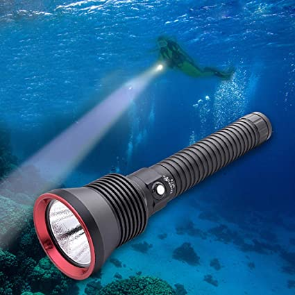 IPX8 Waterproof Super Bright LED Scuba Diving Flashlight / LED Underwater Torch Lamp