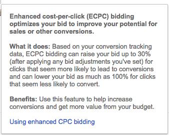 tùy chọn Enable Enhanced CPC