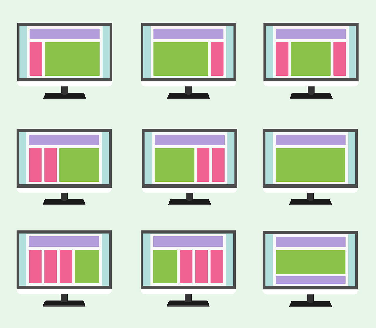 website layouts examples