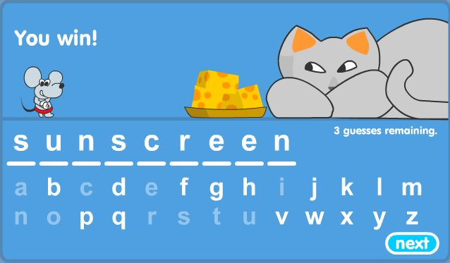 Mouse And Cat Spelling Game